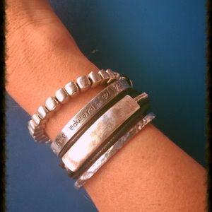 Jewelry - New Silver tone leather bracelet Turkish Design